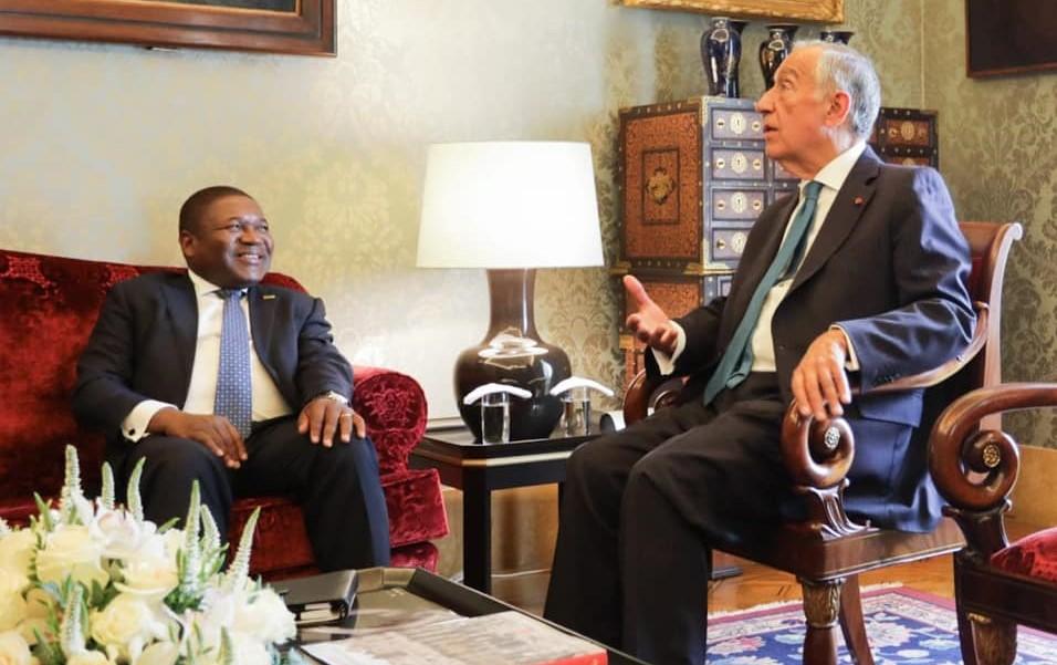 Presidente de Portugal, Marcelo Rebelo de Sousa, com homólogo de Moçambique, Filipe Nyusi
