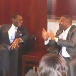 Presidente da Guiné Equatorial com o homólogo de São Tomé e Príncipe