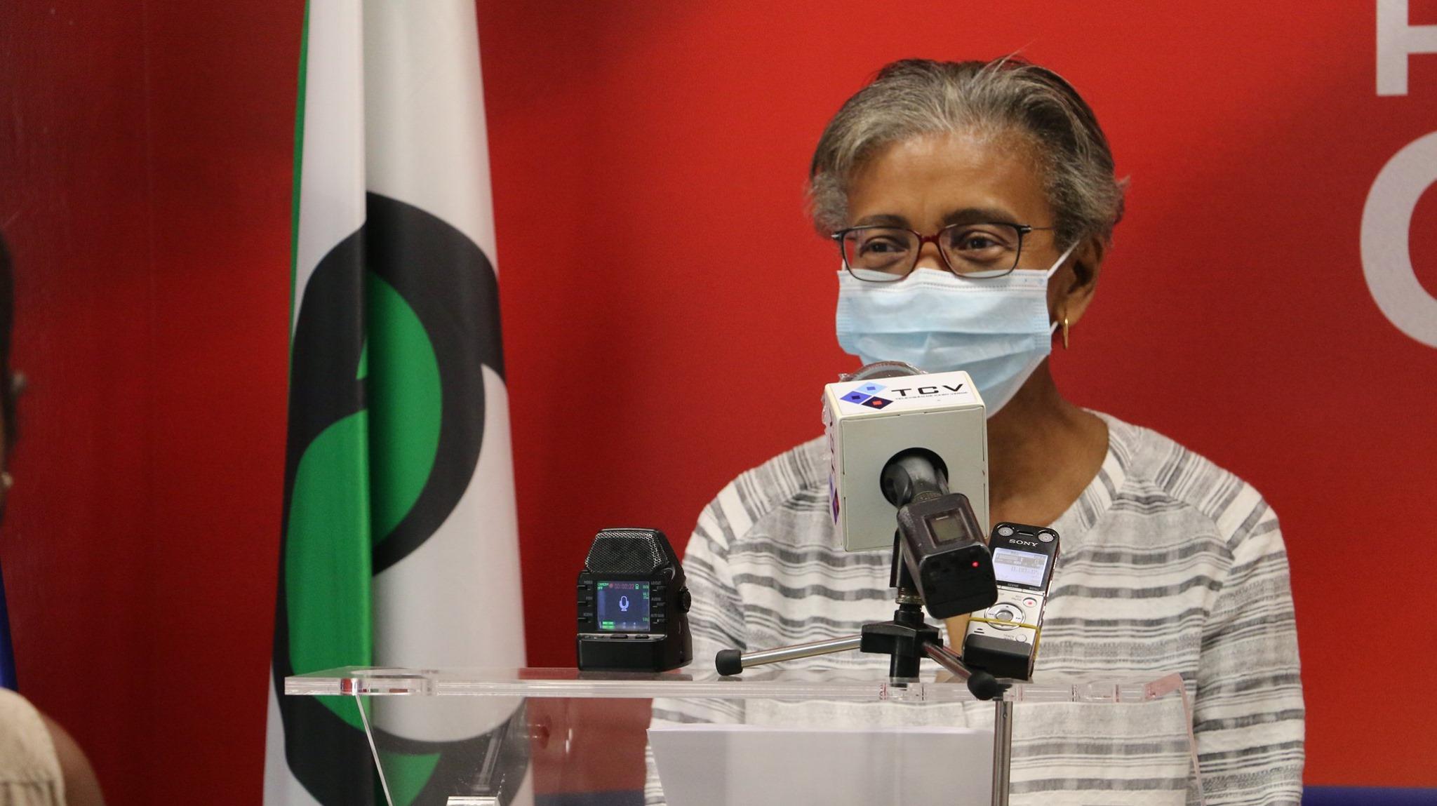 Secretária-geral do MpD, Filomena Delgado