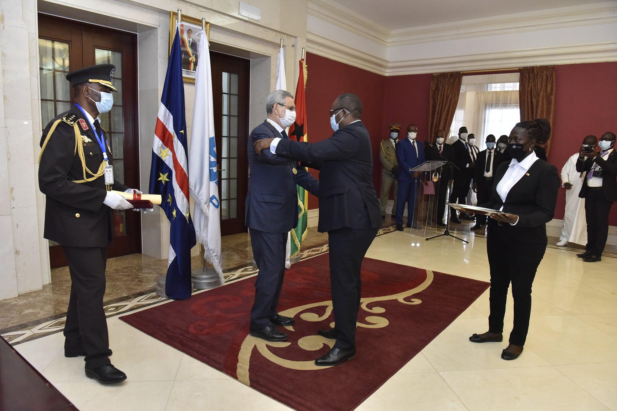 Presidente de Cabo Verde, Jorge Carlos Fonseca, com Presidente da Guiné-Bissau, Umaro Sissoco Embaló, na Guiné-Bissau