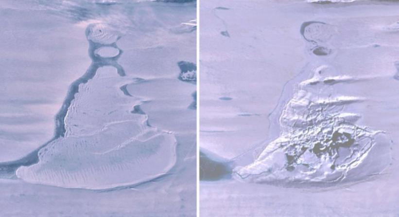Imagens de satélite mostram como um enorme lago na Antártida desapareceu em dias