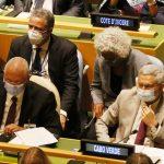 Presidente de Cabo Verde, Jorge Carlos Fonseca, em reunião da ONU