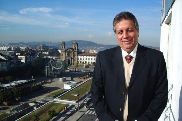 Paulo Pinheiro durante sua visita à Braga