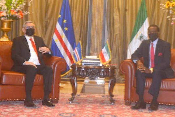 Presidente de Cabo Verde, Jorge Carlos Fonseca, com homólogo da Guiné Equatorial, Teodoro Obiang Nguema