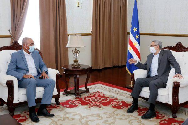 Presidente de Cabo Verde, Jorge Carlos Fonseca, em reunião com ministro da Integração Regional, Rui Figueiredo Soares