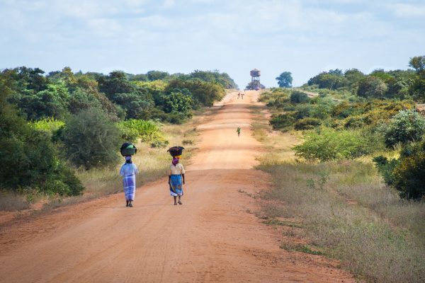 mulher; rua; africa