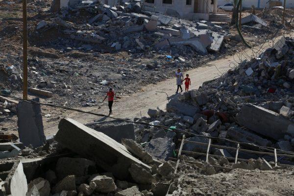 faixa de gaza; palestina; conflito; ruína; guerra